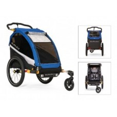 Kids trailer Burley D`Lite - Single Old School Blue