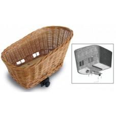 RW animal bicycle basket Basil Pasja - ecru willow incl. Holder & cushion