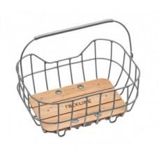 System basket Racktime Baskit Breeze 22l - 47x33x24cm silver incl. SnapIt adapter