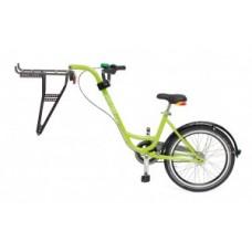 Trailer add + bike by Roland - green w/o gears w. freewheel