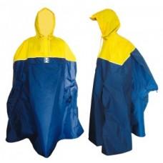 Rain poncho Hock Back-Pack - yellow/marine  s. XXL