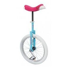 "Unicycle QU-AX Luxus 20"" blue/pink - alu rim tyre white"