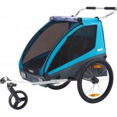 Utánfutó THULE COASTER XT kerékpár szett + sétálókerék kék