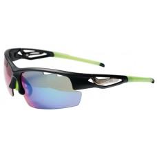 Szemüveg BIKEFUN FLY fekete/zöld + 2 pár extra lencse
