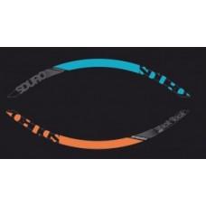 """Yamaha rims decor 27,5"""" - grey/orange/cyan"""
