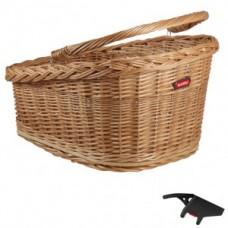 RW wicker basket GT KLICKfix - 47x37x26cm brown w. clip