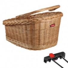 RW wicker basket GT KLICKfix - 47x37x26cm brown for Racktime