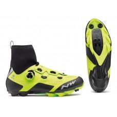 Cipő NORTHWAVE MTB RAPTOR ARCTIC GTX 48, téli, fluo sárga-fekete