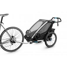Utánfutó THULE CHARIOT SPORT 1 BLACK (kerékpáros, sétáló, és futó kit a csomagban) 1 gyereknek