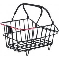 Rear wheel basketBasilCento multi-system -              cm black wide meshed