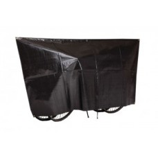 Duo bike protect.coverf.2 bikes plastic - 130 x 250 cm, fekete színű