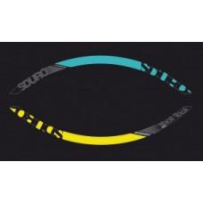 """Yamaha rims decor 27,5"""" - grey/yellow/cyan"""
