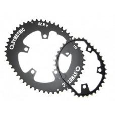 Chain ring Kit Osymetric 130mm Standard - közúti kerékpárra 52/42 fog fekete