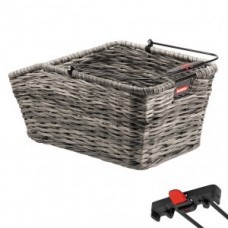 RW basket KLICKfix Structura GT grey - 44x24x20cm braided f.Rackt.. 18l