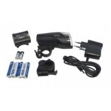 LED-battery reflector Set b&m IXON IQ - fekete incl. akkumulátorok és töltő + Ixback