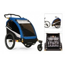 Kids trailer Burley D`Lite - Old School Blue