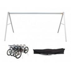 Bike stand E-TEAM Agilis + bag - 240 x 78 x H 105cm f. 5 bikes
