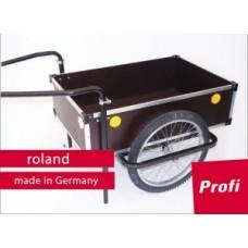 "Trailer Roland Profi 20"" double drawbar - fa / fém, tengelykapcsolóval"