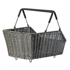 Rear wheel basket Basil Cento Mik - 47x34x22 cm brown Rattan close-meshed