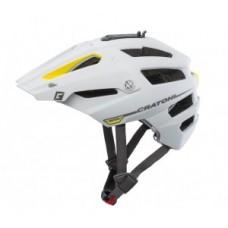 Bike helmet Cratoni AllTrack (MTB) - sz S / M (54-58cm) fehér / sárga gumírozott