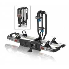 XLC rear rack Azura Xtra LED f. drawbar - can be folded down for 2 eBikes