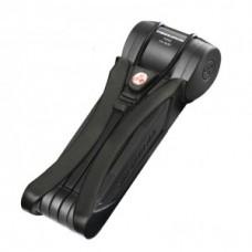 Foldable lock Trelock Toro w/ pl. mount. - FS 500/90 fekete / fekete fekete műanyag tartó