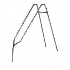 """Carrier Fahrer 26"""" double rack - stainless steel silver"""