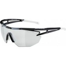 Sunglasses Alpina Eye-5 Shield VL+ - fekete matt / fehér üveg fekete fogpiszkáló