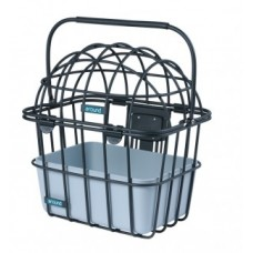 FW pet basket Luna - aluminium 30x38x43cm w. handlebar m.