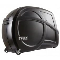 Bike suitcase Thule Round TripPro - Pack 'n Pedál fekete beépítési állvánnyal