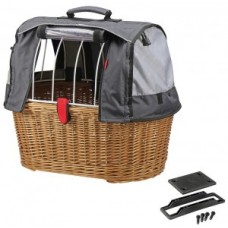 Dog shopper bag KLICKfixDoggyBasket Plus - brown 45x52x36cm GTA