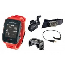 Sport watch Sigma ID Tri Set - neon red