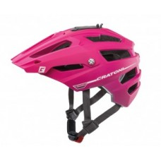 Helmet Cratoni AllTrack (MTB) - size S/M (54-58cm) pink/berry rubber