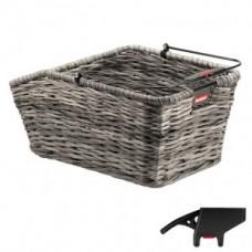 RW basket KLICKfix Structura GT grey - 44x24x20cm braided w. clip 18l