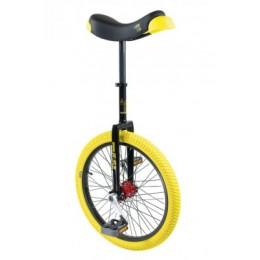 "Unicycle QU-AX Profi 20"" ISIS blk - Alu rim, sárga gumik"