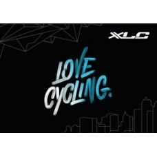 XLC carpet Love Cycling - 83 x 120cm black/white/blue