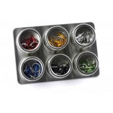 Counter display valve adapter by.schulz - rozsdamentes acél, 60 db válogatott szín