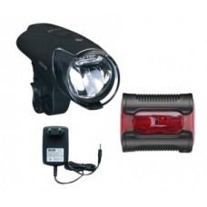 LED-accuh.light Set b&m IXON IQ Premium - inkl. akkumulátor és töltő + Ixback senso