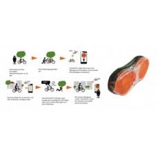 Rear light Velocate vc one LIFETIME - GPS lopásvédelem, 80mm