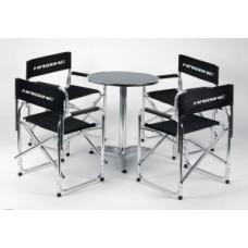 Directors chair set Haibike black/white - directors chair set 4 chairs w/o table