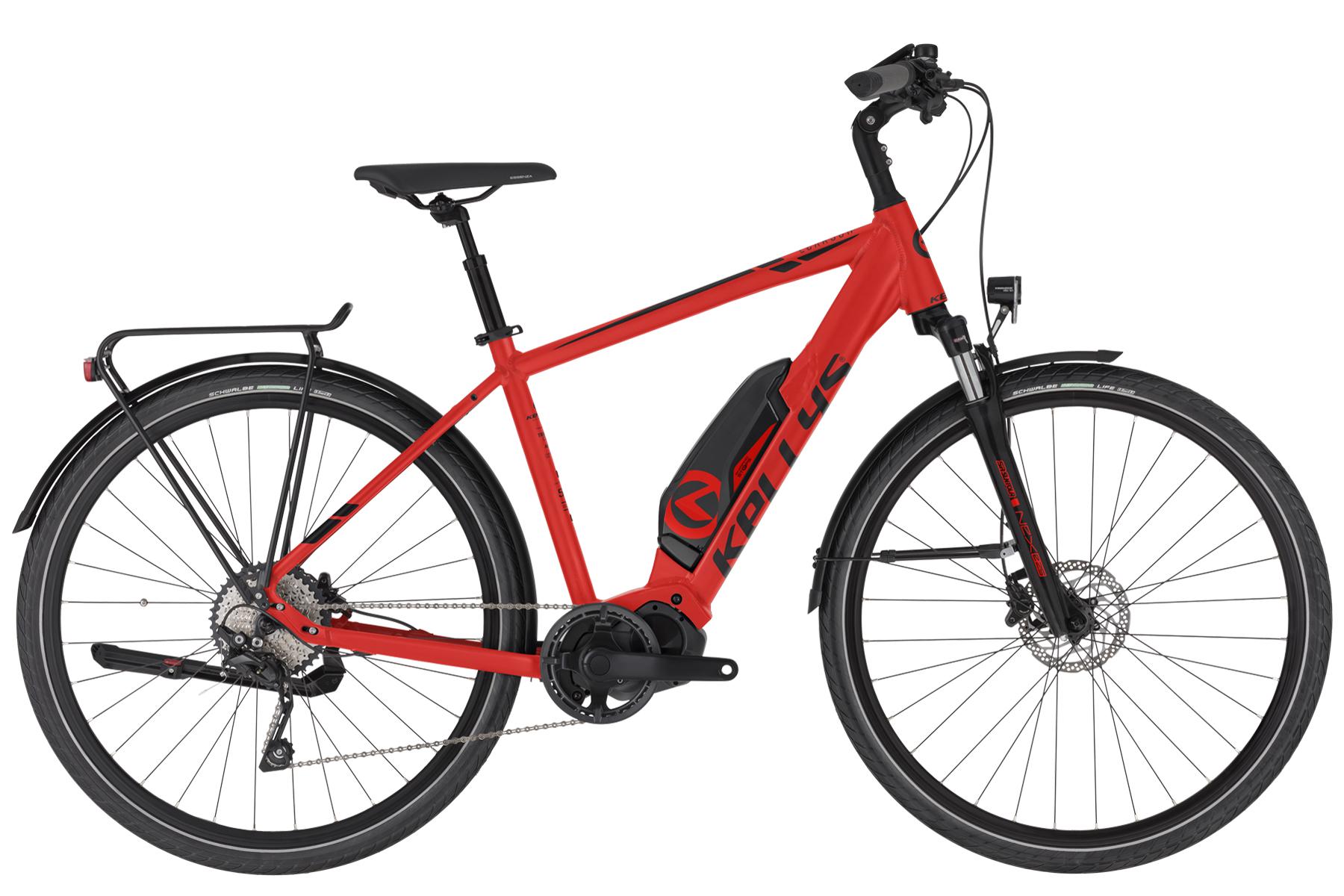 """KELLYS E-Carson 50 elektromos kerékpár   2020   28"""" - L (53 cm) - piros"""