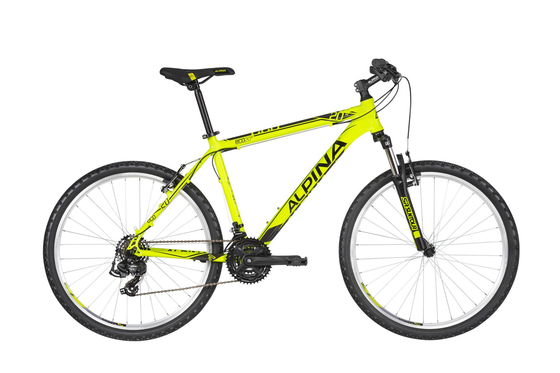 """ALPINA Eco M20 férfi MTB kerékpár   2020   26"""" - XS (38 cm) - neon sárga"""
