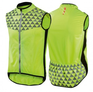 Safety vest Wowow Mont Ventoux - yellow w. reflective strip size XS