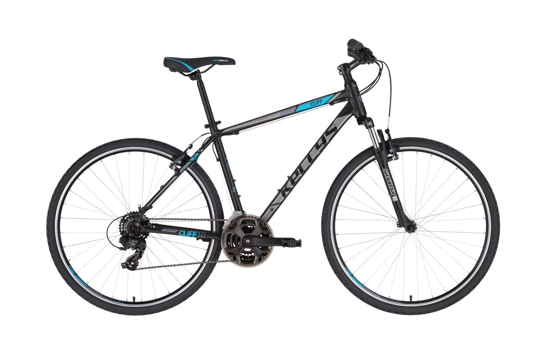 """KELLYS Cliff 10 cross trekking kerékpár   2020   28"""" - M (48 cm) - fekete/kék"""